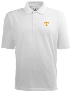 Tennessee Mens Pique Xtra Lite Polo Shirt (Color: White) - Large