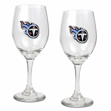 Tennessee Titans 2 Piece Wine Glass Set