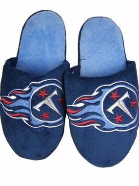 Tennessee Titans 2011 Big Logo Hard Sole Slippers (Two Tone)