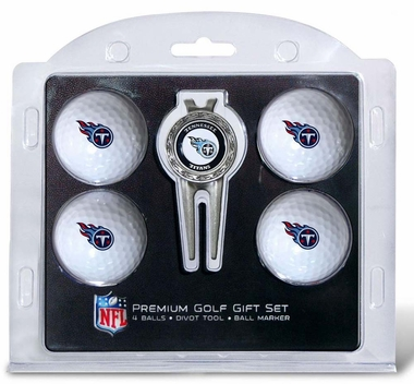 Tennessee Titans 4 Ball and Divot Tool Set
