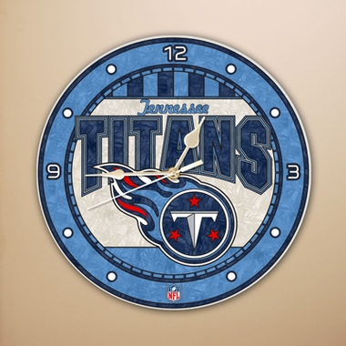 Tennessee Titans Art Glass Clock