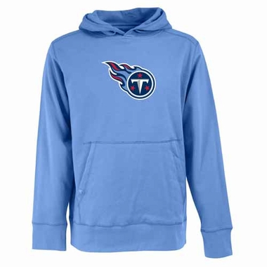 Tennessee Titans Mens Big Logo Signature Hooded Sweatshirt (Color: Aqua)