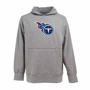 Tennessee Titans Big Logo Mens Signature Hooded Sweatshirt (Color: Gray) - X-Large