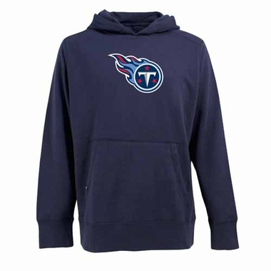 Tennessee Titans Mens Big Logo Signature Hooded Sweatshirt (Color: Navy)