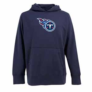 Tennessee Titans Mens Big Logo Signature Hooded Sweatshirt (Color: Navy) - XXX-Large