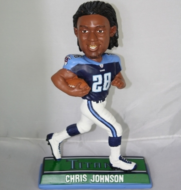 Tennessee Titans Chris Johnson 2010 Endzone Bobblehead