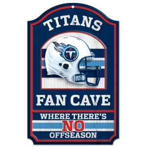 "Tennessee Titans Wood Sign - 11""x17"" Fan Cave Design"