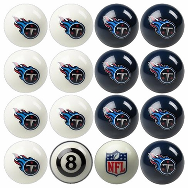 Tennessee Titans Home and Away Complete Billiard Ball Set