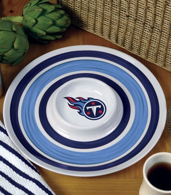 Tennessee Titans Plastic Chip and Dip Plate