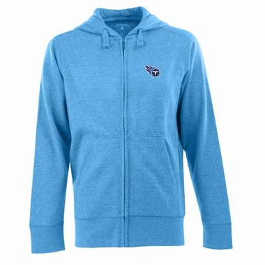 Tennessee Titans Mens Signature Full Zip Hooded Sweatshirt (Color: Aqua)
