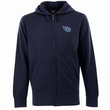 Tennessee Titans Mens Signature Full Zip Hooded Sweatshirt (Color: Navy)