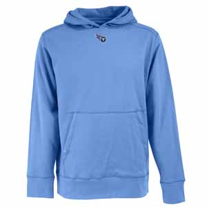 Tennessee Titans Mens Signature Hooded Sweatshirt (Color: Aqua) - X-Large
