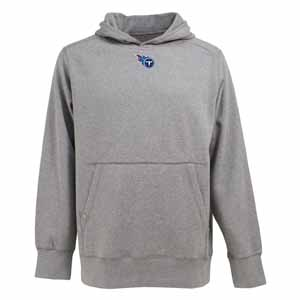 Tennessee Titans Mens Signature Hooded Sweatshirt (Color: Gray) - Small