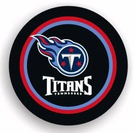 Tennessee Titans Black Tire Cover - Standard Size
