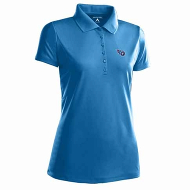 Tennessee Titans Womens Pique Xtra Lite Polo Shirt (Color: Aqua)