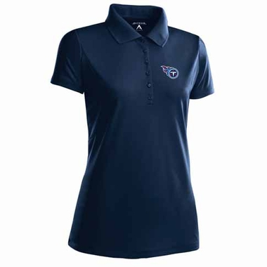 Tennessee Titans Womens Pique Xtra Lite Polo Shirt (Color: Navy)