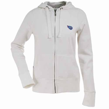 Tennessee Titans Womens Zip Front Hoody Sweatshirt (Color: White)