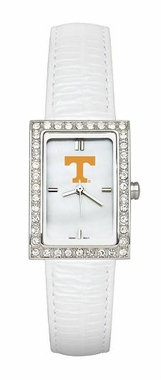 Tennessee Women's White Leather Strap Allure Watch