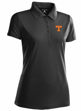 Tennessee Womens Pique Xtra Lite Polo Shirt (Color: Black)