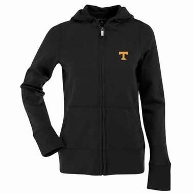 Tennessee Womens Zip Front Hoody Sweatshirt (Color: Black)