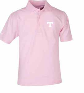 Tennessee YOUTH Unisex Pique Polo Shirt (Color: Pink) - Large