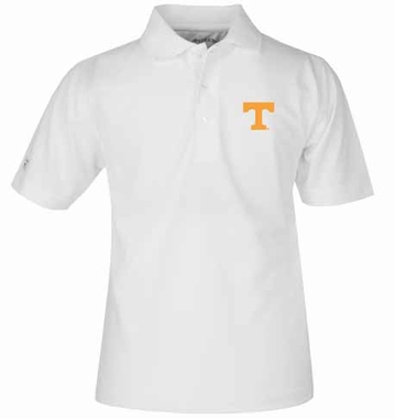 Tennessee YOUTH Unisex Pique Polo Shirt (Color: White)