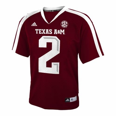 Texas A&M Aggies Adidas # 2 YOUTH Football Jersey