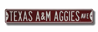 Texas A&M Aggies Ave Street Sign