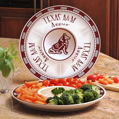 Texas A&M Ceramic Chip and Dip Plate