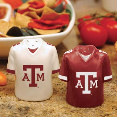 Texas A&M Ceramic Jersey Salt and Pepper Shakers