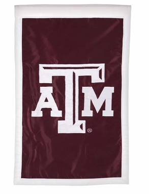 Texas A&M Double Sided Applique Flag