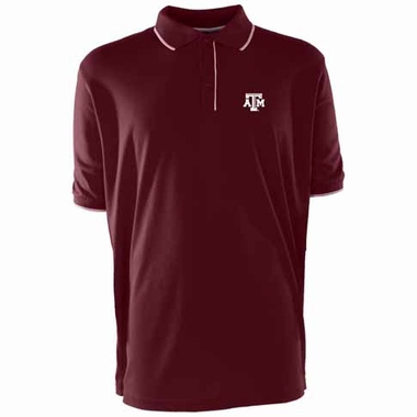 Texas A&M Mens Elite Polo Shirt (Color: Maroon)