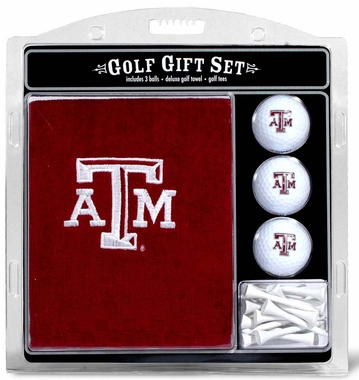 Texas A&M Embroidered Towel Golf Gift Set