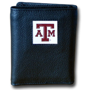 Texas A&M Leather Trifold Wallet (F)
