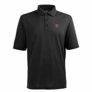 Texas A&M Mens Pique Xtra Lite Polo Shirt (Color: Black) - X-Large