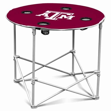 Texas A&M Round Tailgate Table