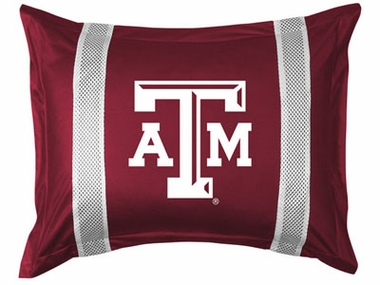 Texas A&M SIDELINES Jersey Material Pillow Sham