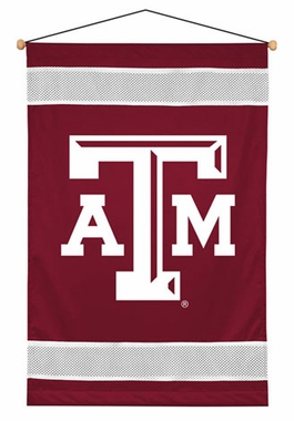 Texas A&M SIDELINES Jersey Material Wallhanging