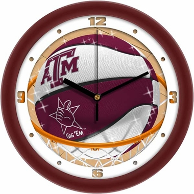 Texas A&M Slam Dunk Wall Clock