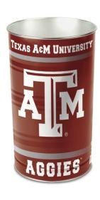 "Texas A&M Aggies 15"" Waste Basket"