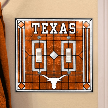 Texas Art Glass Lightswitch Cover (Double)