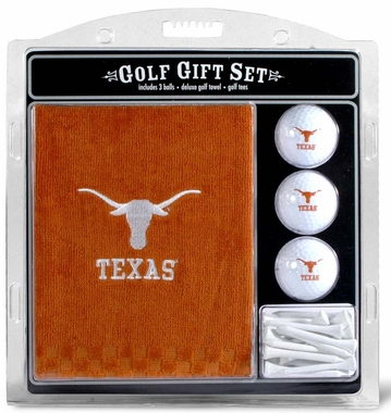 Texas Embroidered Towel Golf Gift Set
