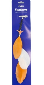 Texas Longhorns Team Color Feather Hair Clip