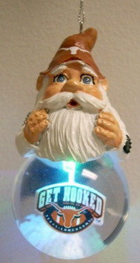 Texas Light Up Gnome Snow Globe Ornament