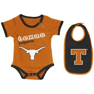 Texas Longhorns Infant Junior esie w Bib 6 12 Months