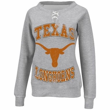 Texas Longhorns Women's Lace Up Hard Course Fan Pullover Sweatshirt