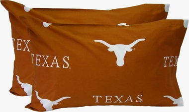 Texas Printed Pillow Case - (Set of 2) - Solid