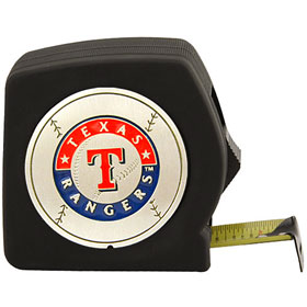 Texas Rangers Black Tape Measure