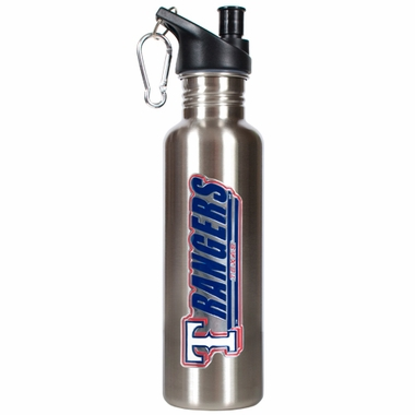Texas Rangers 26oz Stainless Steel Water Bottle (Silver)