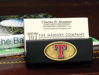 Texas Rangers Business Card Holder (Black)